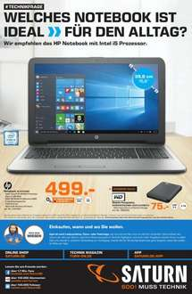 """[Lokal Saturn Stuttgart / Esslingen] HP 15"""" FHD i5-6200U 8GB 256GB SSD R5 M430 Win10, TAB S2 299€ / 369€ LTE und mehr...."""