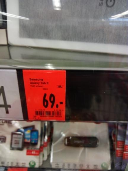 Kaufland Worms (WEP) Samsung Galaxy Tab E für 69,00€