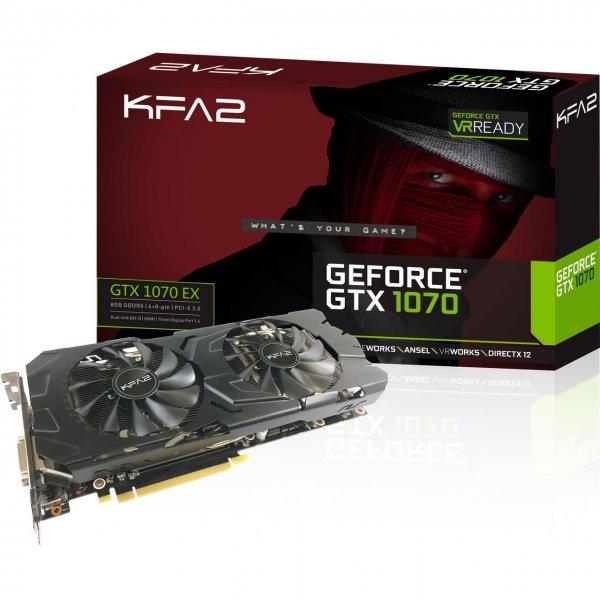 KFA2 GeForce GTX 1070 EX für 408€ (Vgl. 430€)