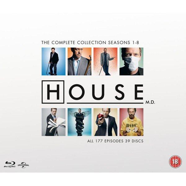 Dr. House - Die komplette Serie (Staffel 1-8) (dt. Tonspur) (Bluray) ab 49,08€ [Zavvi]