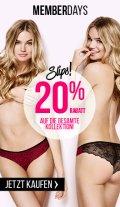 Memberdays bei Hunkemöller mit 20% Rabatt auf den kompletten Shop (auch Sale)