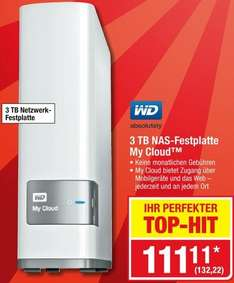 [Metro] Western Digital My Cloud 3TB 132,22€  nur am Sa. 03.09.2016