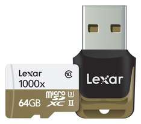 Lexar Professional 1000x microSDXC 64GB Class 10 / UHS-II / U3 (Read: 150MB/s & Write: ab 40MB/s) für 19,82€ [Amazon.co.uk]