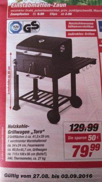 [toom Baumarkt] Holzkohlegrillwagen Toro