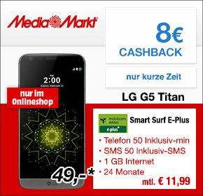 LG G5 Pink im Vertrag Media Markt Online 376,75€