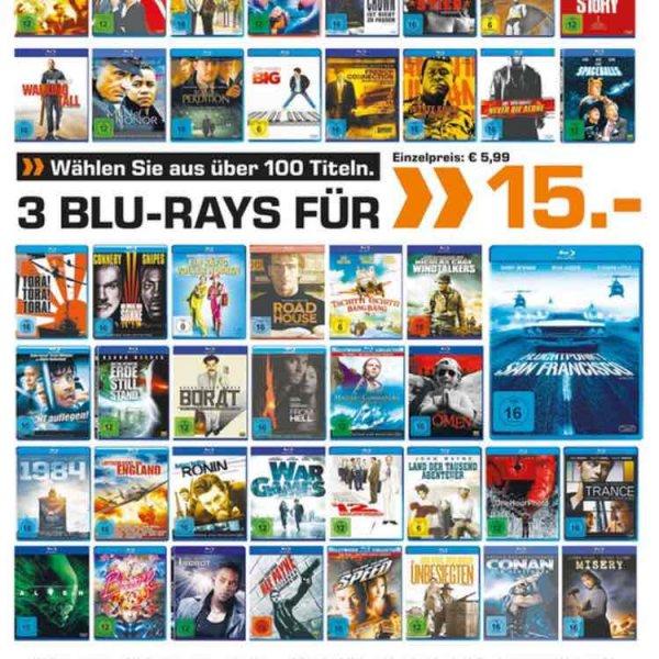 3 Blurays für 15€ [Lokal/ Köln/ Hansaring]