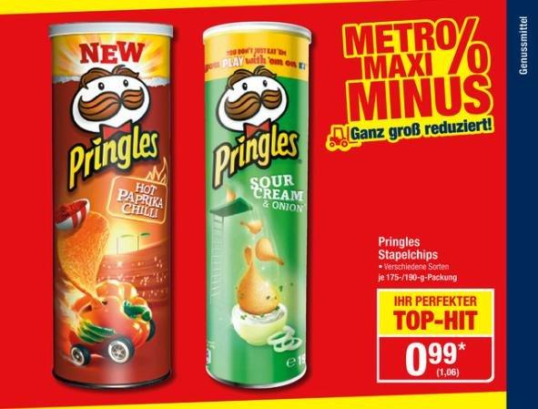 [Metro] Pringles verschiedene Sorten für 1,06€