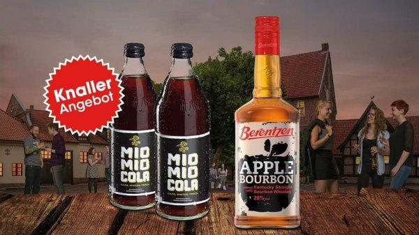Berentzen Apple Bourbon + 2 Flaschen Mio Mio Cola für 6,49