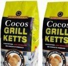 Cocos Grill Briketts Premium Holzkohle  EUR 7,99 (inkl. MwSt.+Versand)
