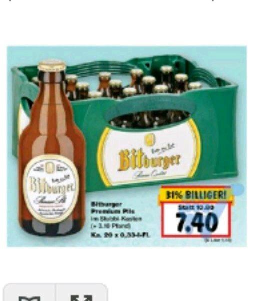 (Lokal) Kaufland Trier und Hermeskeil Bitburger Stubbis 20x 0,33 Liter