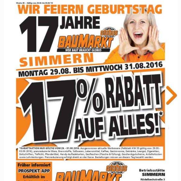 17% bei Globus Baumarkt Simmern