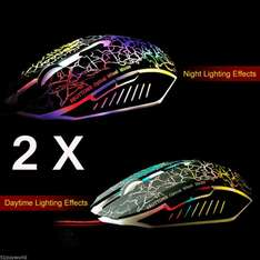 [Ebay DE] 2 X Optisch 1000-2400 DPI 6 Tasten Spielmaus USB Maus Wired Gaming Mouse Mice