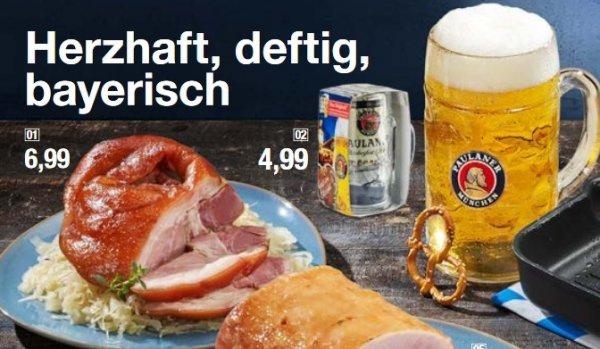 Paulaner 1l Oktoberfest Bierdose + Paulaner Maßkrug für 4,99€ [GALERIA KAUFHOF bundesweit]