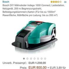 [Amazon Marketplace] Bosch Indego 1000 Connect Mähroboter für 803,89€