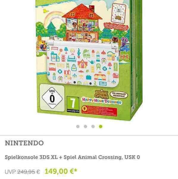 New Nintendo 3DS XL + Animal Crossing nur 134€