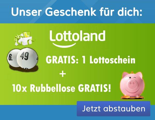 Lottoland Werbebanner 10 Rubbellose Lotto 6aus49 gratis NEUKUNDEN