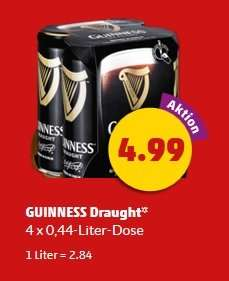 [Penny] Guinness Draught - 4 x 0,44l in der Dose (2,84€/l)