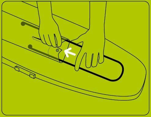 Bügelhilfe Bügel Clou für Ärmel beim Real-Markt