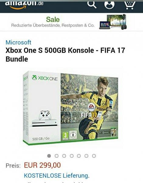 Xbox s mit Fifa 17