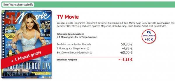 Geld verdienen mit TV-Movie Abo? [BestChoice EinkaufsGutschein]