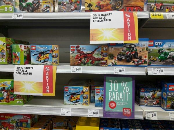 *Regional* REWE-CENTER (Hessen - siehe Text): 30% Rabatt auf alle Spielwaren!
