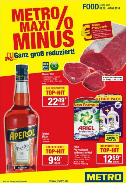 [METRO 01.09 - 07.09] Metro Angebote Rinder Steaks Whisky etc sehr günstig!