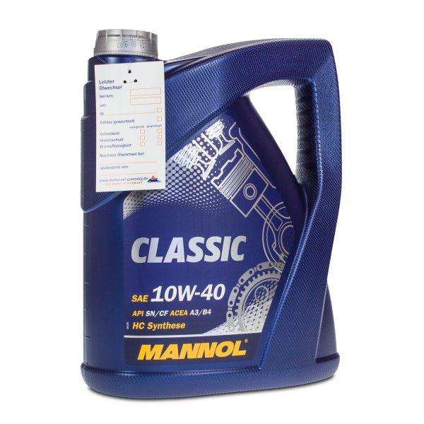[Ebay] 5 Liter MANNOL 10W-40 Classic Motoröl VW 502.00/505.00, MB 229.1, RN0700
