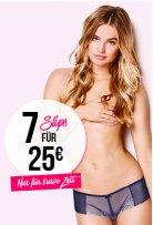 Heiße Höschen bei Hunkemöller: 7 Slips für 25€ mit gratis Filiallieferung