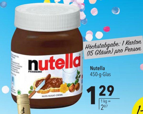 [Lokal CITTI Lübeck] Nutella 450g 1,29€ ;Melitta 500g 2,99€, Gemischtes Hack 2,99€/kg