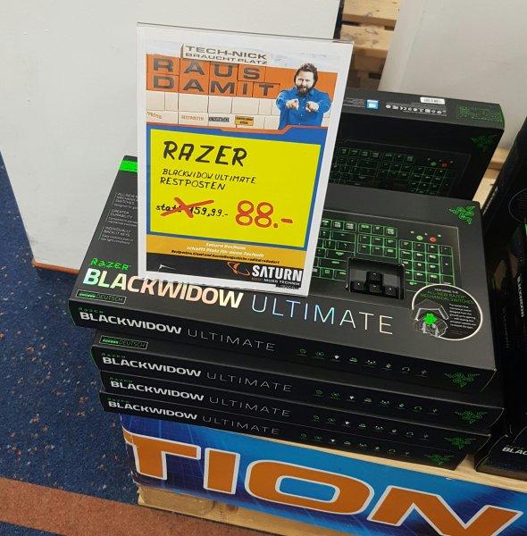 [Lokal?] Saturn Bochum  Razer BlackWidow Ultimate 2014 (mechanische Tastatur, DE-Layout, variable Beleuchtung, Makro- und Programmierfunktion) für 88 € statt 115 €