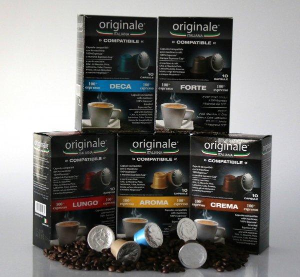 Nespresso kompatible Kaffeekapseln 200 Stück für 13,90€ (ca. 0,07€/Kapsel)
