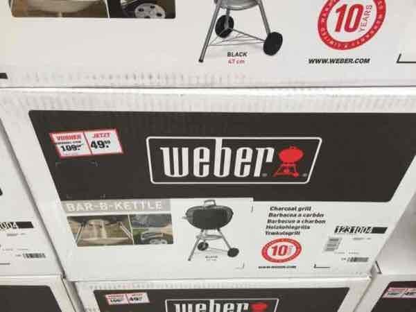 [lokal Dresden-Gompitz Toom] Weber Bar-B-Kettle 47cm [VGP 86,94€]
