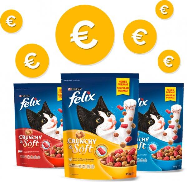 «3x Gratis testen» FELIX Crunchy & Soft