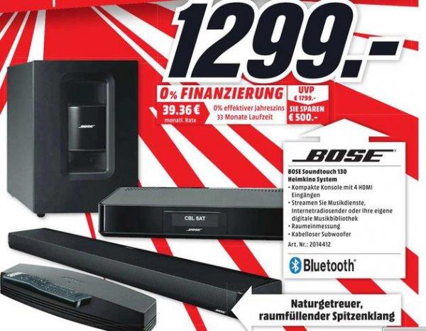 (Lokal MediaMarkt Essen) Bose Soundtouch 130 Heimkinosystem für 1299€ (Idealo: 1674€, Ersparnis ~29% / 375€)