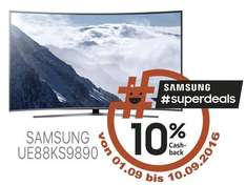 Samsung SUHD 10 % Cashback aktion