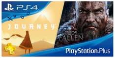 "[PS+ im September] ""Lords of the Fallen"" (PS4) + ""Journey"" (PS3 / PS4) + ""Badland"" (PS3 / PS4 / PS Vita)"