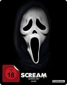 (Saturn) Scream Quadrilogy - Steelbook (Blu-ray) für 25,99€