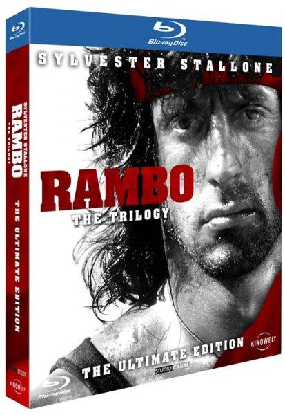 RAMBO - THE TRILOGY, Uncut-Version auf Bluray für 9,94 € zzgl. Versand, @alphamovies