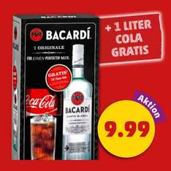Bacardi 0,7l + 1l Coca Cola bei Penny