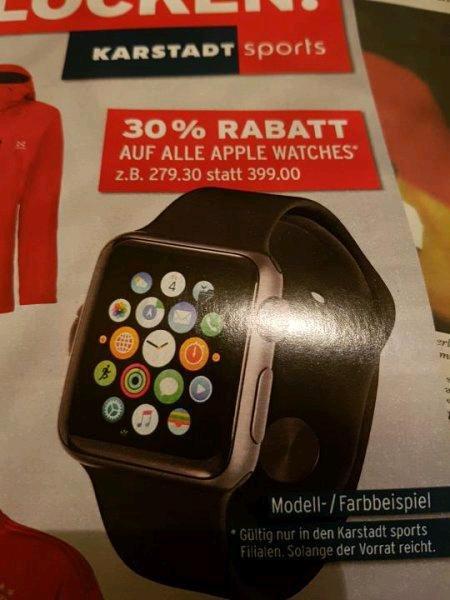 30% auf alle Apple Watch Watches bei Karstadt Sport Preise ab 279 Euro