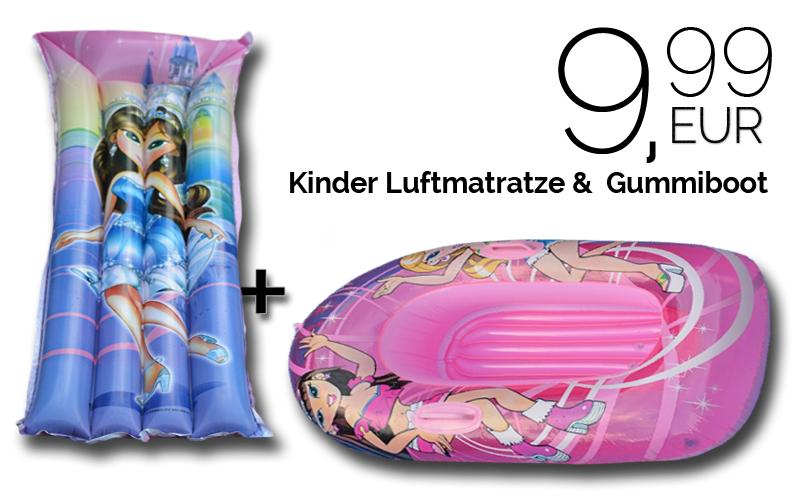 Luftmatratze und Gummiboot für 9,99€ versandkostenfrei bei [Buyfox]