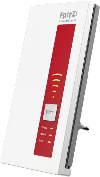 AVM Fritz! Wlan Repeater 1750E (1300 MBit/s, 2,4GHz + 5GHz Dual-Band, Wlan a/b/g/n/ac, Gb LAN, WPS, AP, Crossband) für 65€ [Conrad]