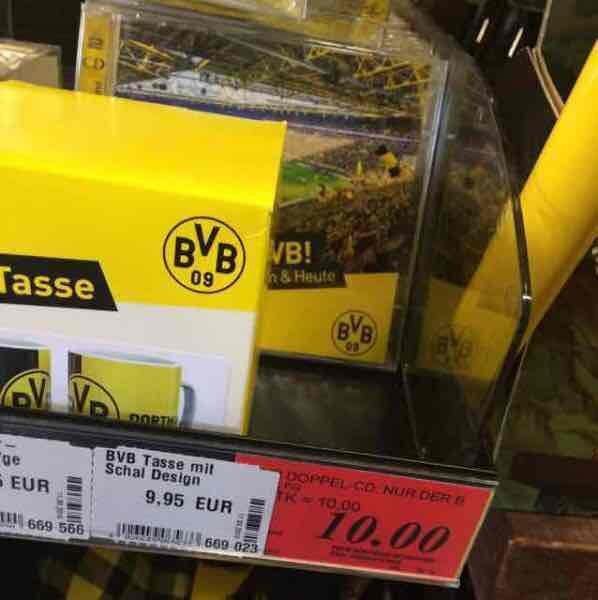[Lokal] Dortmund Doppel CD: Nur der BVB, Das beste von gestern und heute, bei Rewe Dortmund