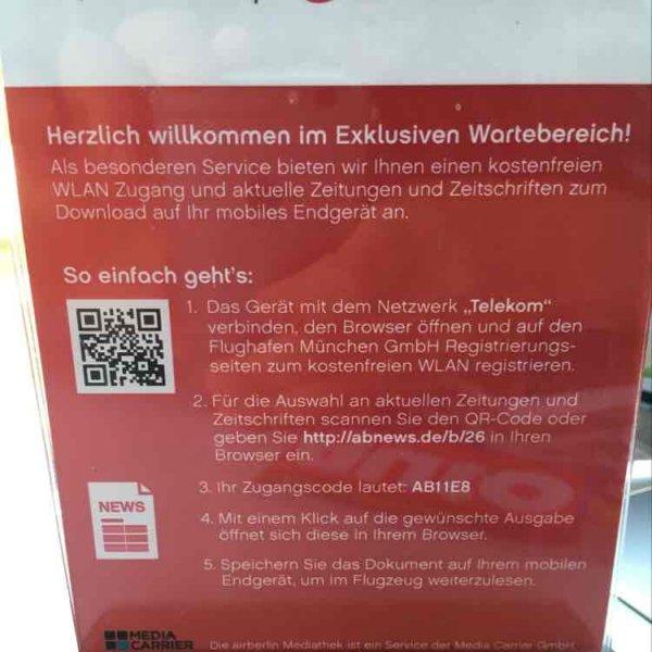 LOKAL Flughafen München: Gratis aktuelle digitale Zeitungen / Zeitschriften dank Airberlin login