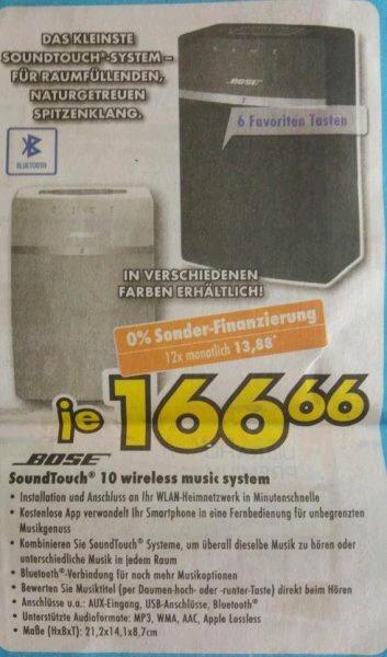 Bose Soundtouch 10 für 166,66€