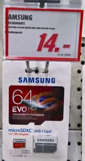lokal MM OL Samsung EVO Plus micro SD XC 64 GB