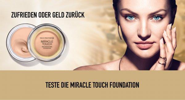 Max Factor X Miracle Touch Foundation - Zufrieden oder Geld zurück, Rest muss eingesendet werden, Porto Erstattung, Deutschland und Österreich