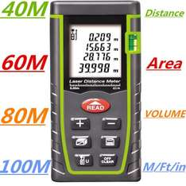 Laser-Entfernungsmesser 40 m [Aliexpress]