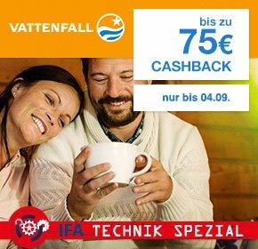 (Shoop) 75,- Euro Cashback für Vattenfall Stromvertrag, 35,- Euro für einen Gasvertrag