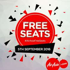 AirASIA Free Seats (+Steuern) am 05. September